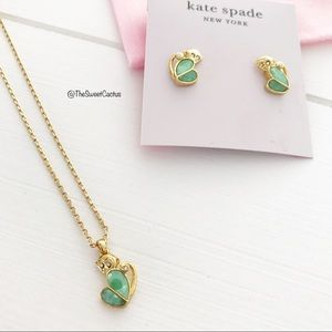Kate Spade Animal Party Necklace and Earrings Set